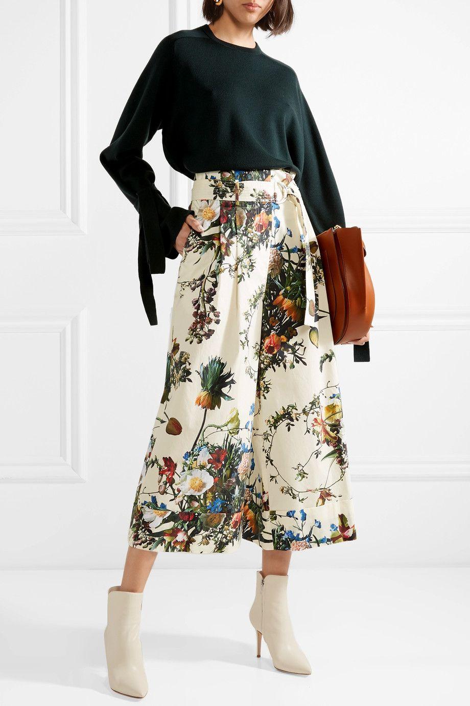 Floral-print Wool Midi Dress - Ecru Adam Lippes ziXG7mtvfl