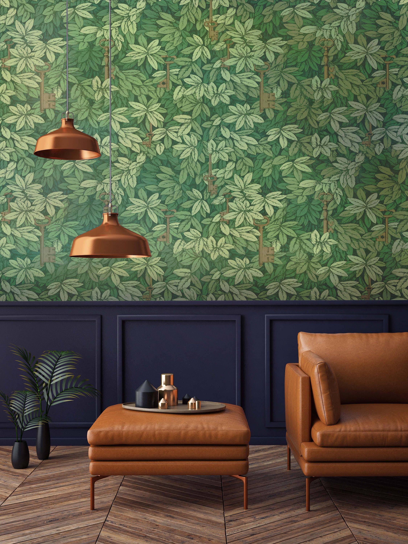 Fern Wallpaper Botanical Wall Paper Nature Inspired Room
