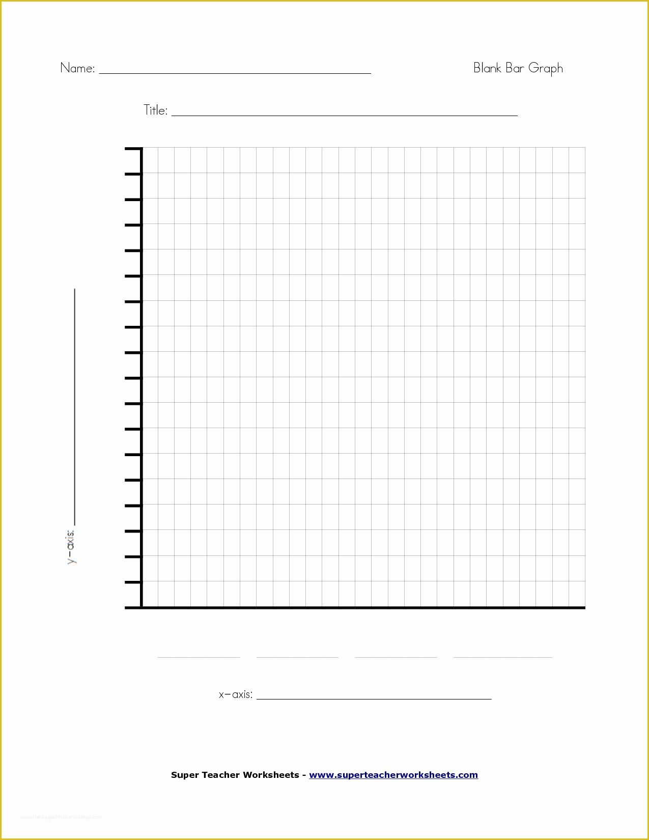 Blank Bar Graph Worksheet   Printable Worksheets and Activities for  Teachers [ 1650 x 1275 Pixel ]