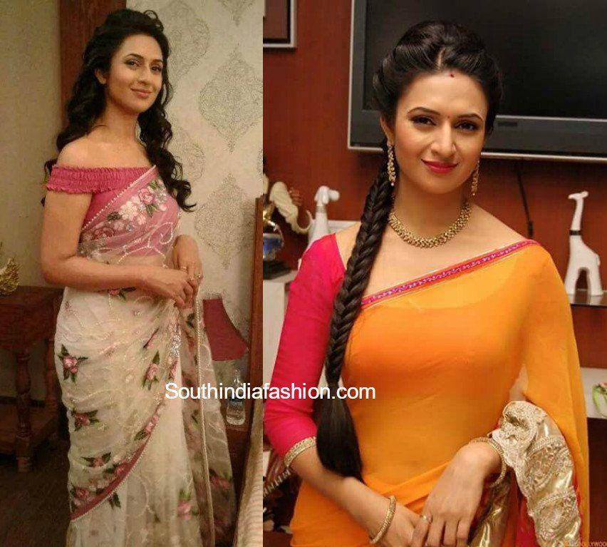 5b48d2f3678a0e Divyanka Tripathi aka Ishita Bhalla Saree blouse designs in Yeh Hai  Mohabbatein serial, Ishita blouse designs
