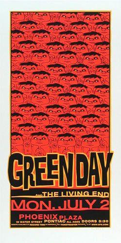Green Day The Living End Phoenix Plaza 7/2/2001 Artist: Glenn Barr