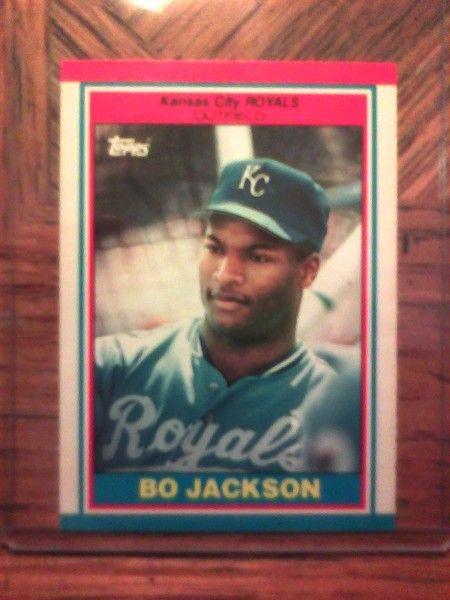 1989 Bo Jackson Topps Baseball Card 43 Sport Cards