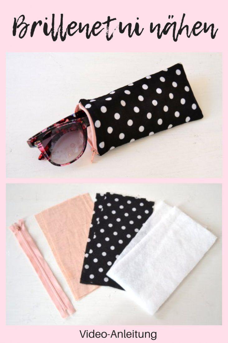 DIY Brillenetui nähen / kleines Täschchen mit Reißverschluss für Sonnenbrille selber machen | DIY MODE