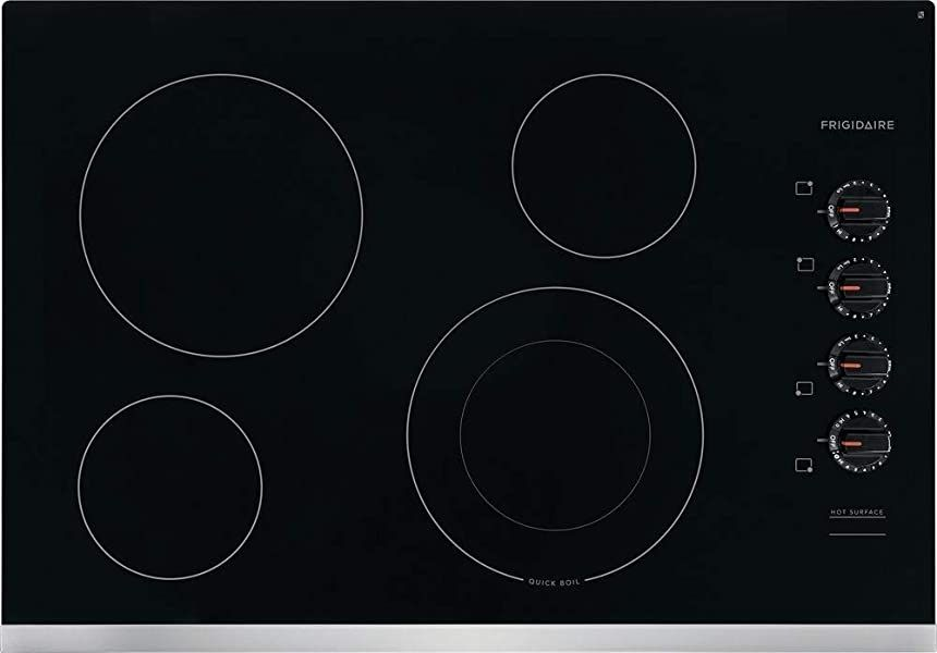 Cooktops Frigidaire Ffec3025us 30 Inch Electric Smoothtop Style Cooktop With 4 Elements In Stainless Steel In 2020 Glass Cooktop Electric Cooktop Frigidaire