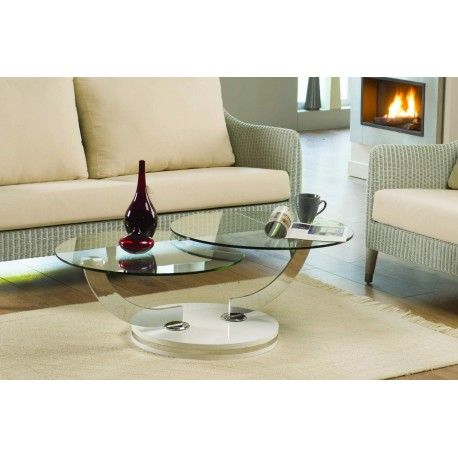 Table Basse GALAXY Verre Double plateau Table basse