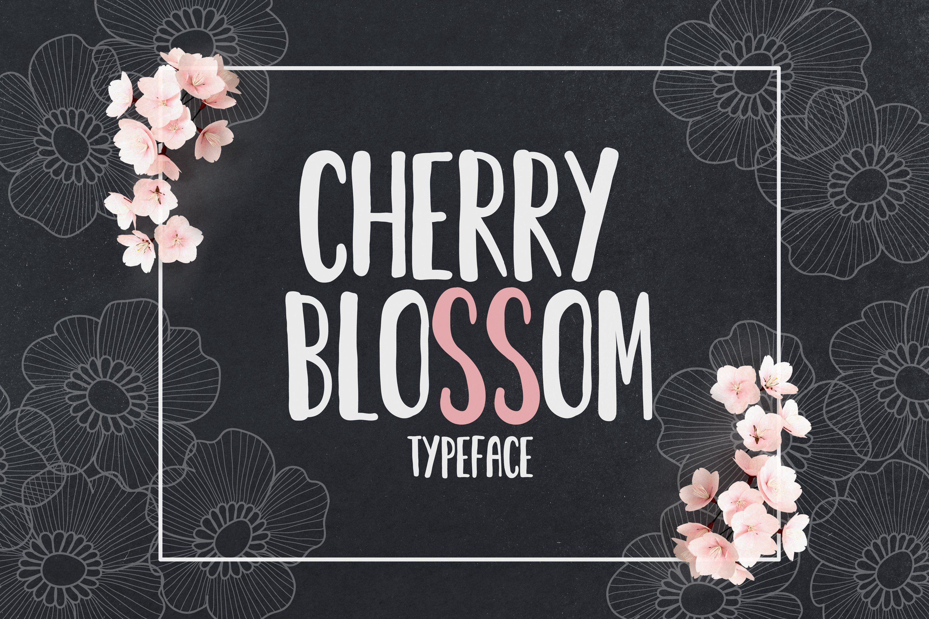 Cherry Blossom Font In 2020 Cherry Blossom Font Bundles 1001 Free Fonts