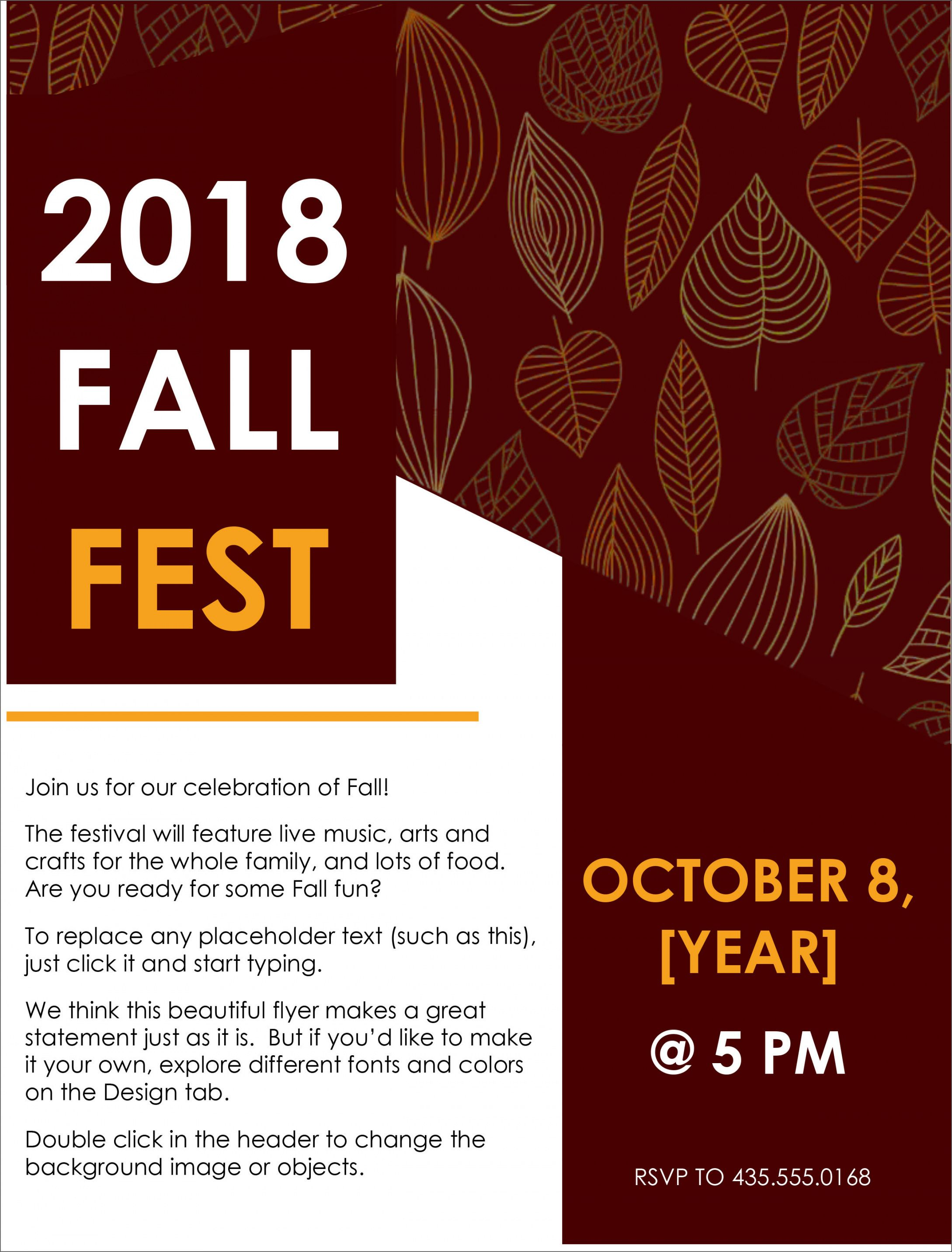 Get Our Example Of Fall Event Flyer Template For Free Free Flyer Templates Flyer Template Event Flyer Templates Fall clean up flyer template