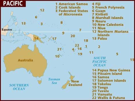 Map of Pacific Places To Go and Things To Do Pinterest Travel