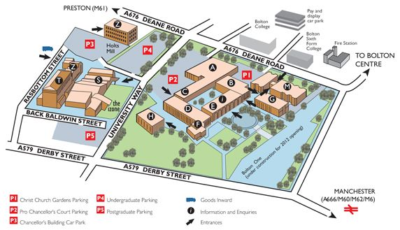 derby university campus map Our Vision Campus Map Bolton College Park derby university campus map