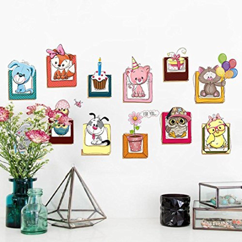 Best Dacawin Cartoon Animal 3D Stream Floor Wall Sticker 640 x 480