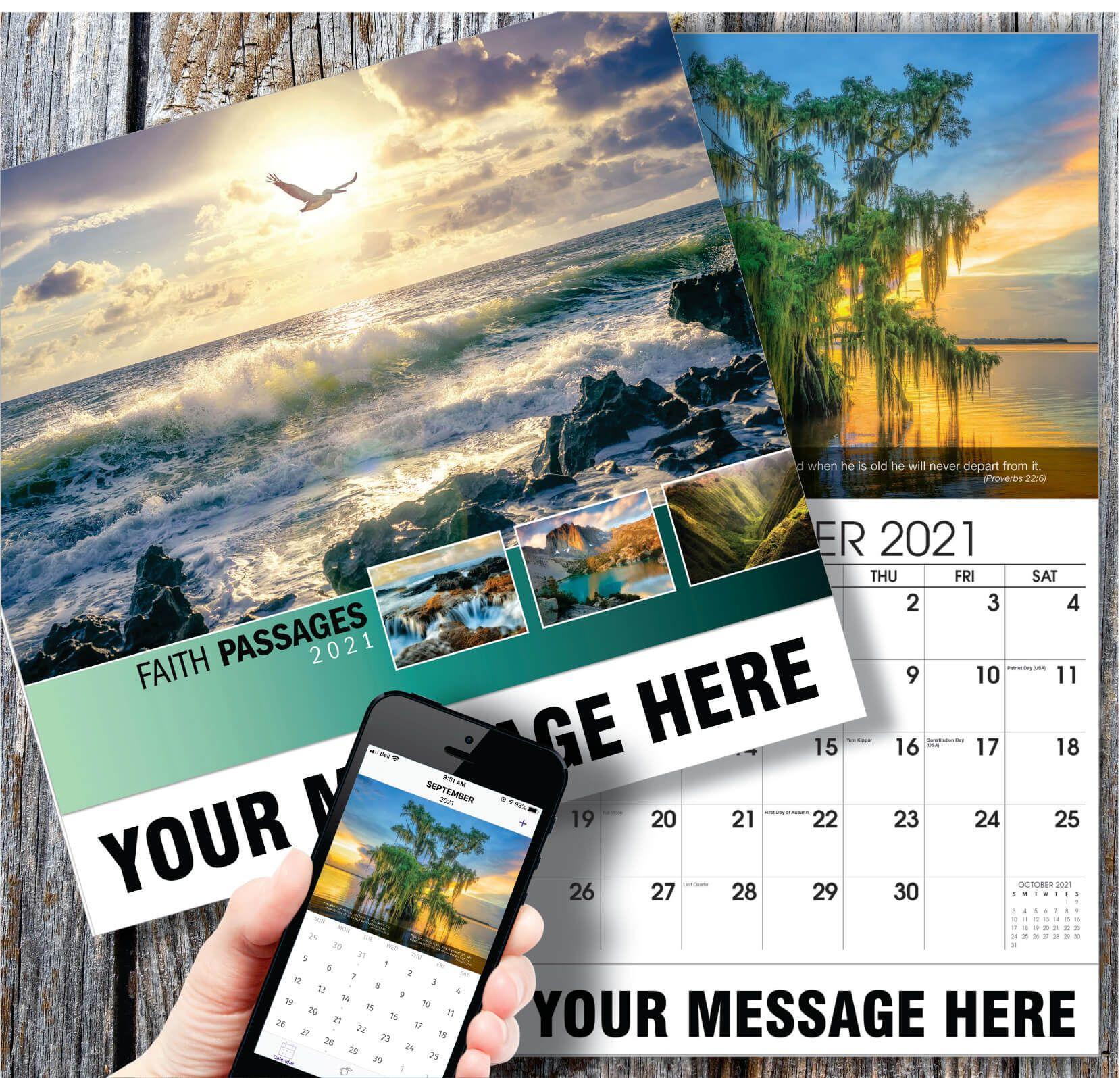 Faith Passages in 2020 School calendar, Promotional