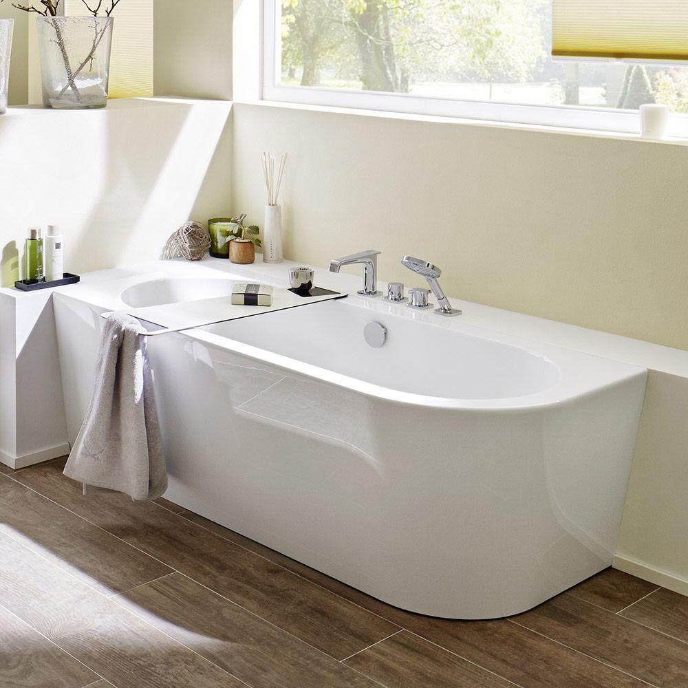 steinkamp 1000 freistehende eck badewanne 180 x 80 cm rechts st010er megabad wohnen. Black Bedroom Furniture Sets. Home Design Ideas