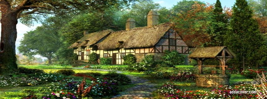 country cottage images | Timeline Covers, English