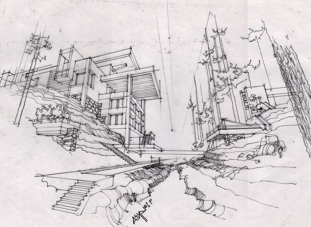 modern architectural sketches. #architecturestudent. Architecture SketchesArchitecture DesignArchitecture IllustrationsModern Modern Architectural Sketches C