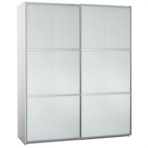 180cm Sliding Door Wardrobe Glass Doors White