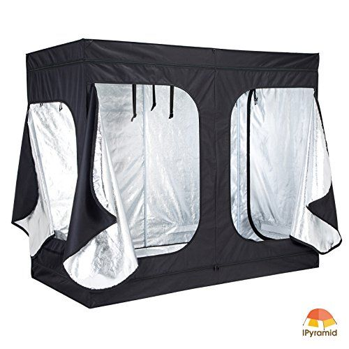 iPyarmid 96x48x78 600D Indoor Grow Tent Room Reflective Mylar Hydroponic Non Toxic Hut /  sc 1 st  Pinterest & iPyarmid 96x48x78 600D Indoor Grow Tent Room Reflective Mylar ...