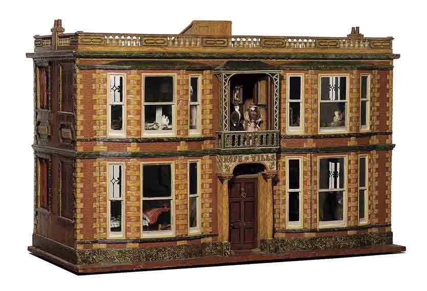 Antique Dollhouse | Barrett's sale of antique dolls, toys from Mary Merritt  museum grosses . - Antique Dollhouse Barrett's Sale Of Antique Dolls, Toys From