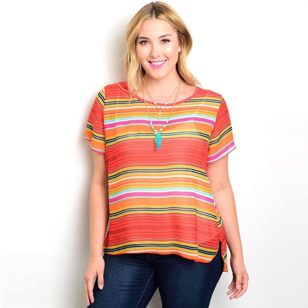 Shop the trends womenus plus size short sleeve woven top comfy