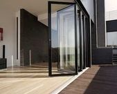 Folding wall made of glass for large openings. Folding doors and folding systems – A … -…  – uncategorized