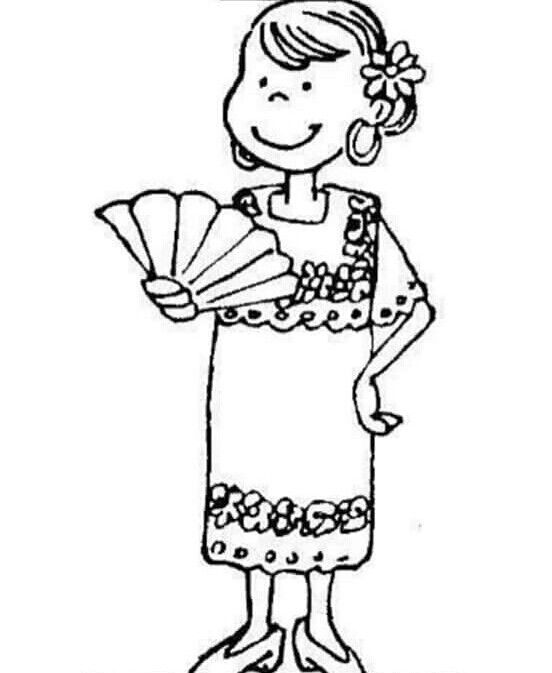 coloring pages spanish culture | Pin by Teri Barea on Yucatán | Coloring pages, Mexico ...