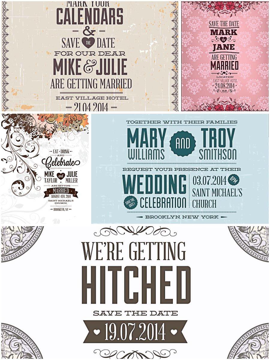 Floral vintage wedding invitations set vector free vintage vector free download floral vintage wedding invitations set vector stopboris Image collections
