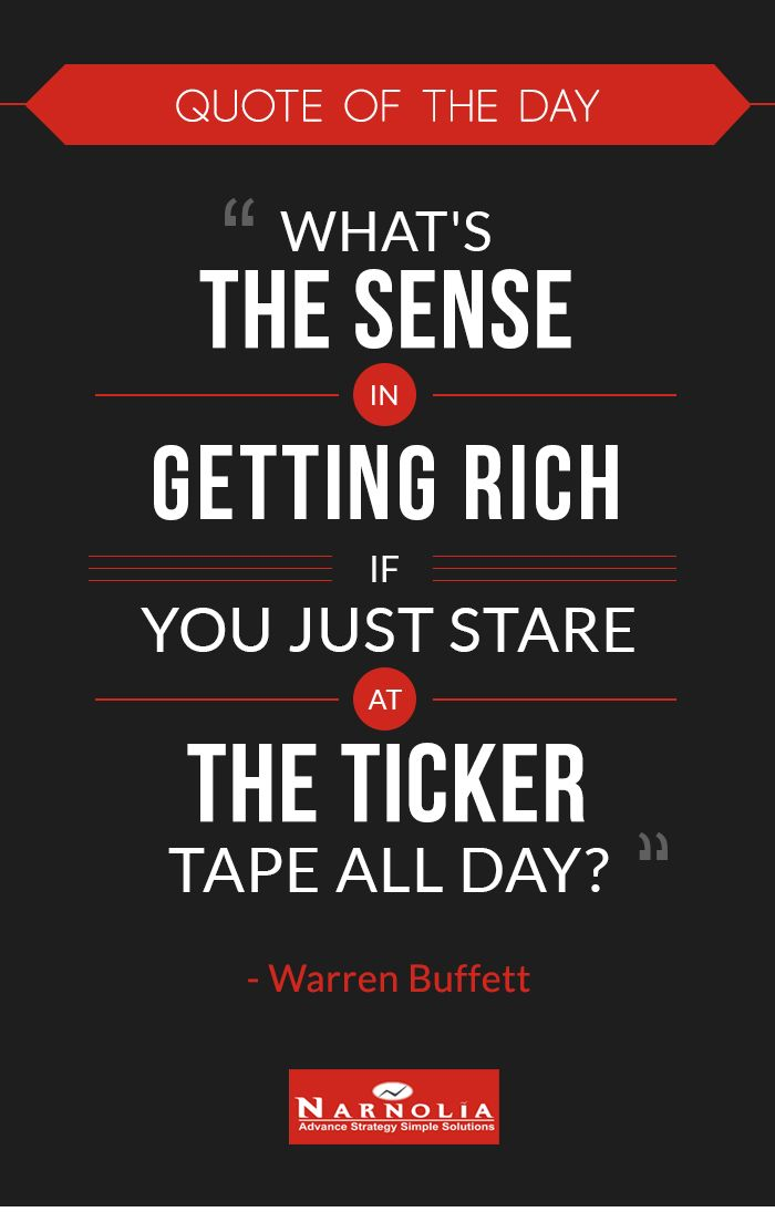 "Brk A Stock Quote Pleasing Quote Of The Day ""what's The Sense In Getting Rich If You Just Stare . Design Ideas"