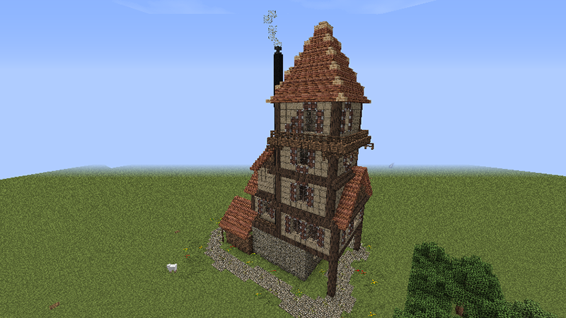 How to build a beautiful medieval house minecraft blog for Classic house tutorial
