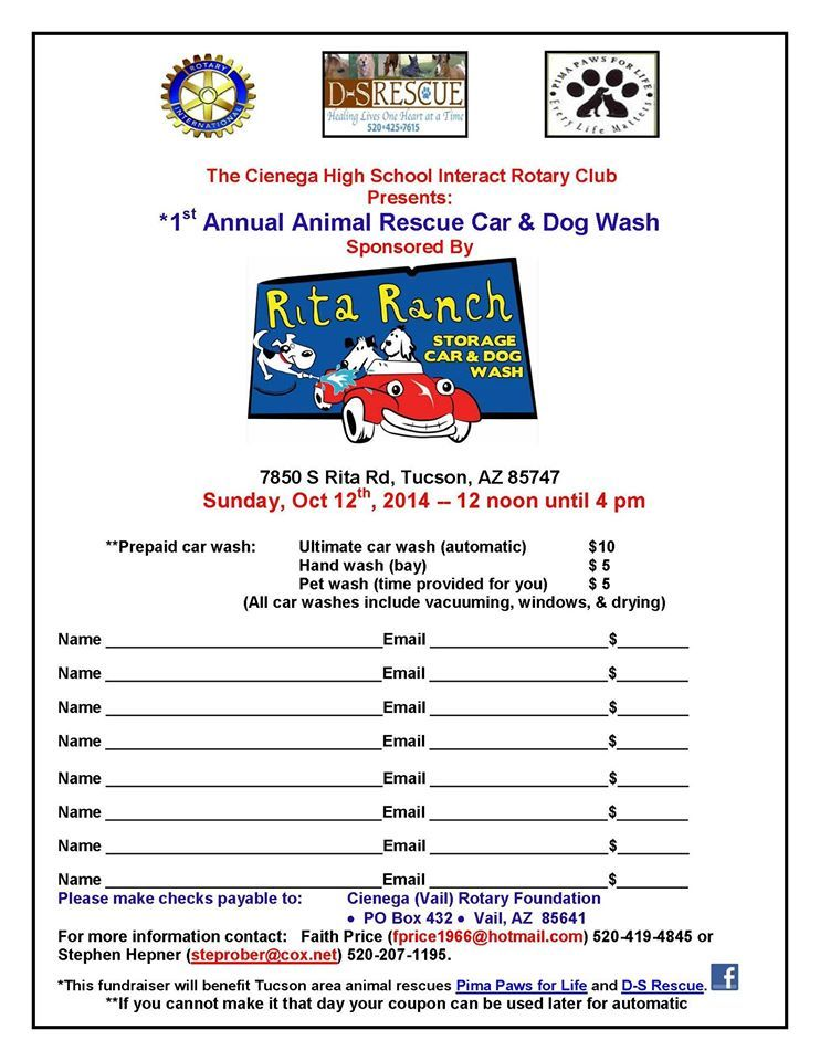 1st Annual Car And Dog Wash: Rita Ranch Storage, Car, And Dog Wash