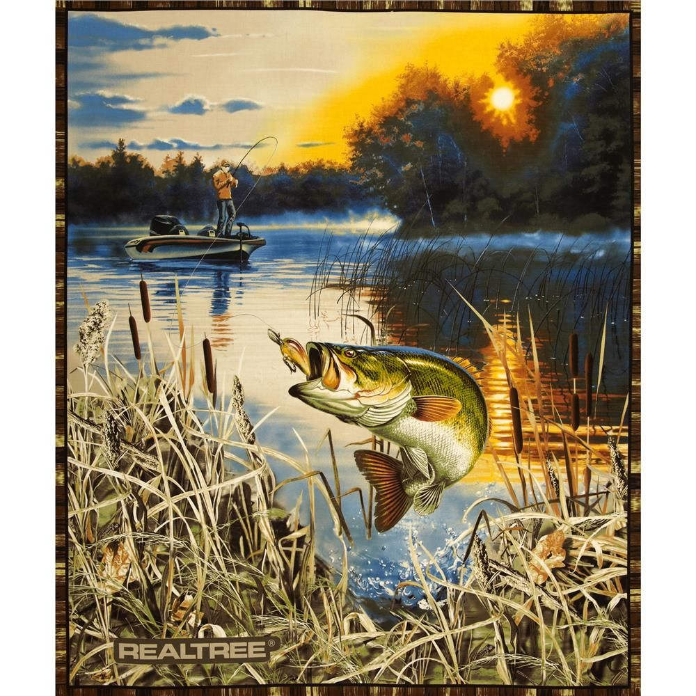 Print Concept Panel Fish Quilt Panel Quilts Wildlife Quilts