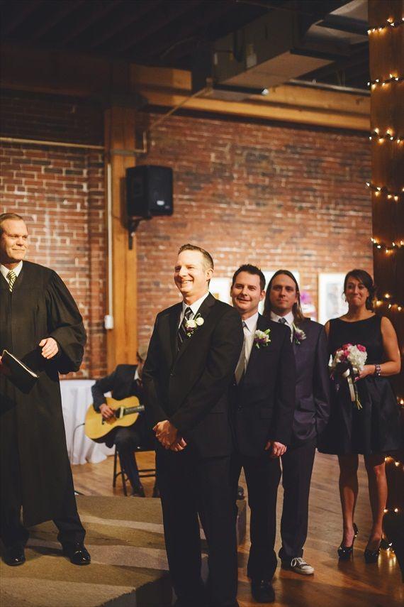 the groom sees his bride - Rachael Schirano Photography - Contemporary Arts Center Wedding