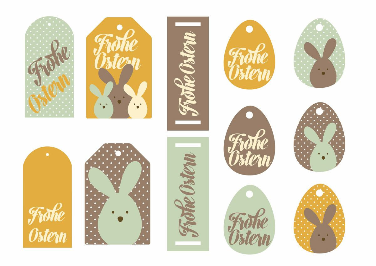 geschenkanh nger zum ausdrucken ostern gift tags printable easter and diy easter cards. Black Bedroom Furniture Sets. Home Design Ideas