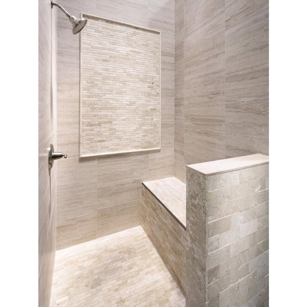 Travertini Bianco Porcelain Tile Floor Decor Shower Wall Tile Porcelain Tile Porcelain Tile Bathroom