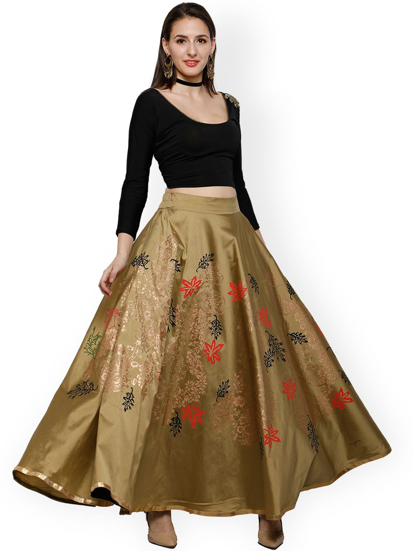 5ad5eae2d Ira Soleil Olive Printed Maxi Skirts #Skirt #OliveGreen #Printed #Maxi