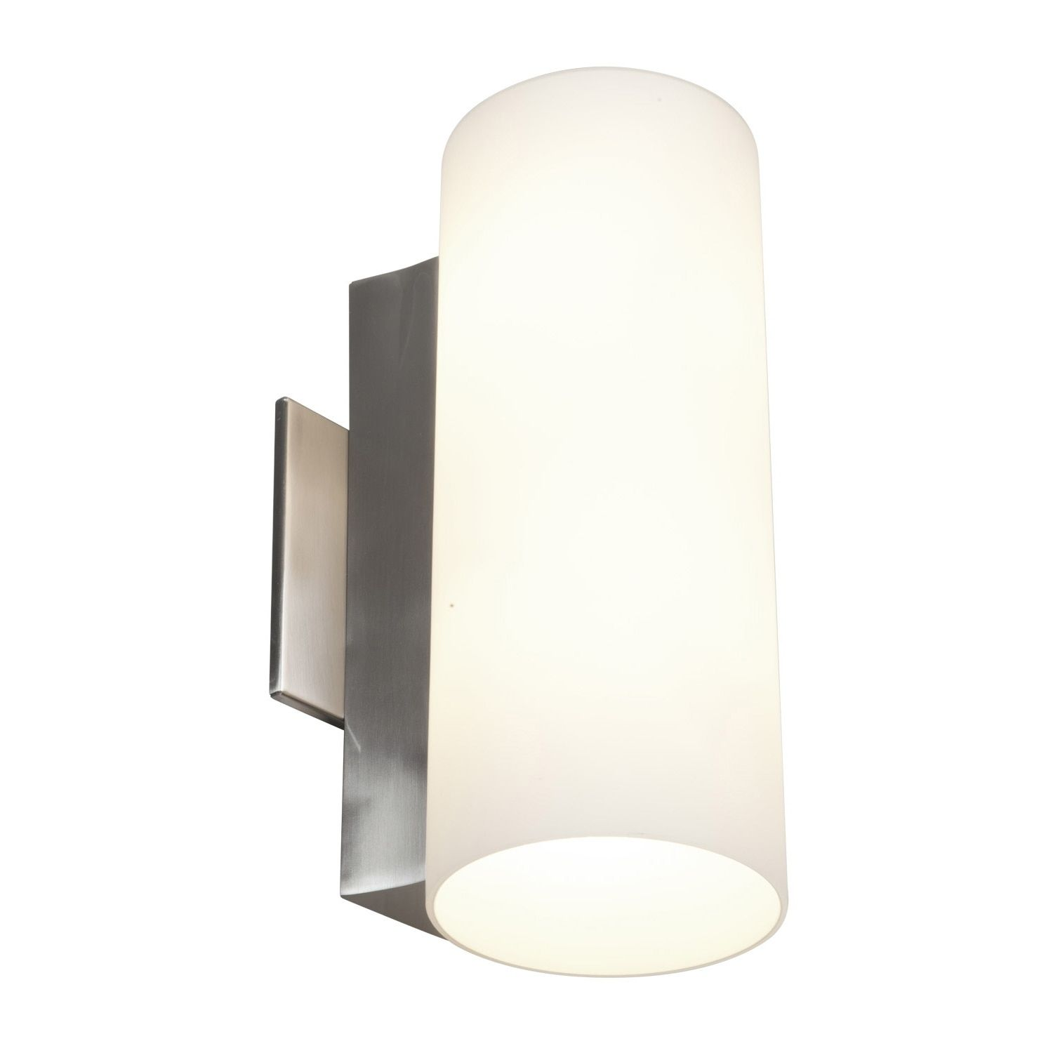 Bathroom Light Sconces With Switch access taboo 2-light brushed steel 11.8-inch wall sconce (brushed