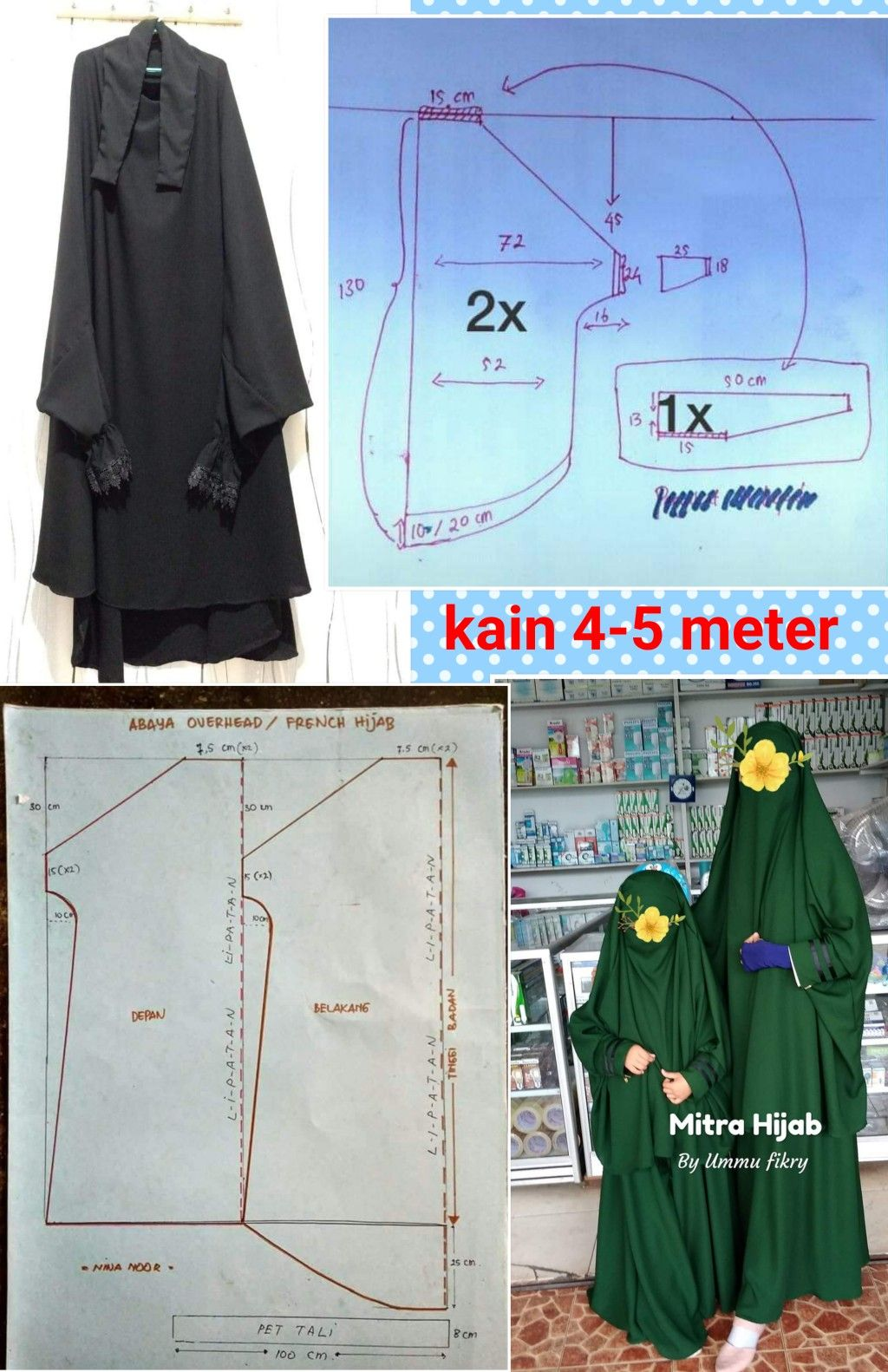 Carsafi Di 2020 Pola Jahitan Pola Menjahit Gratis Kursus Hijab