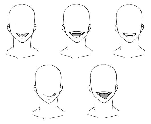 ゲス顔の描き方 歯と舌 Sorrisos Desenho Desenho De Labios Desenho Expressoes