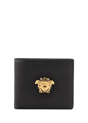 e5a0a4c271 Medusa calf leather wallet | Wallets | Versace wallet, Leather ...