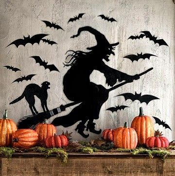 The Domestic Curator: 110 Awesome Halloween Decorating Ideas For Your Fireplace Mantel