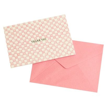 $10.99 target 50ct: Mara-Mi Checkerboard Thank You Cards - Pink