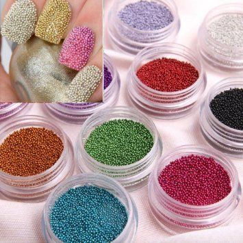 350buy Fashion Caviar Nails Art New 12 Colors plastic Beads Manicures or Pedicures Nail Art Hot Sale