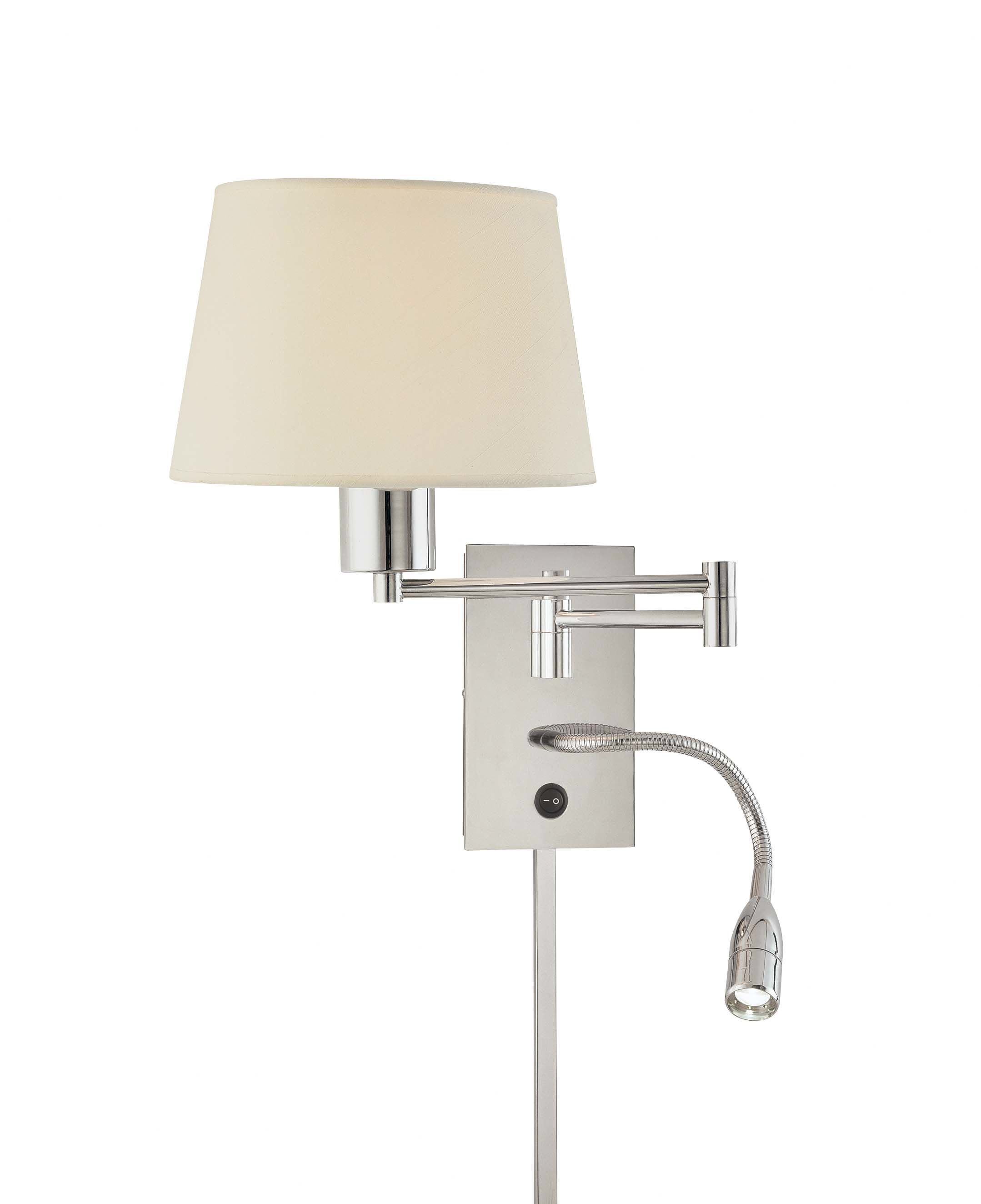 georges reading room swing arm wall sconce - Bedroom Wall Sconces For Reading