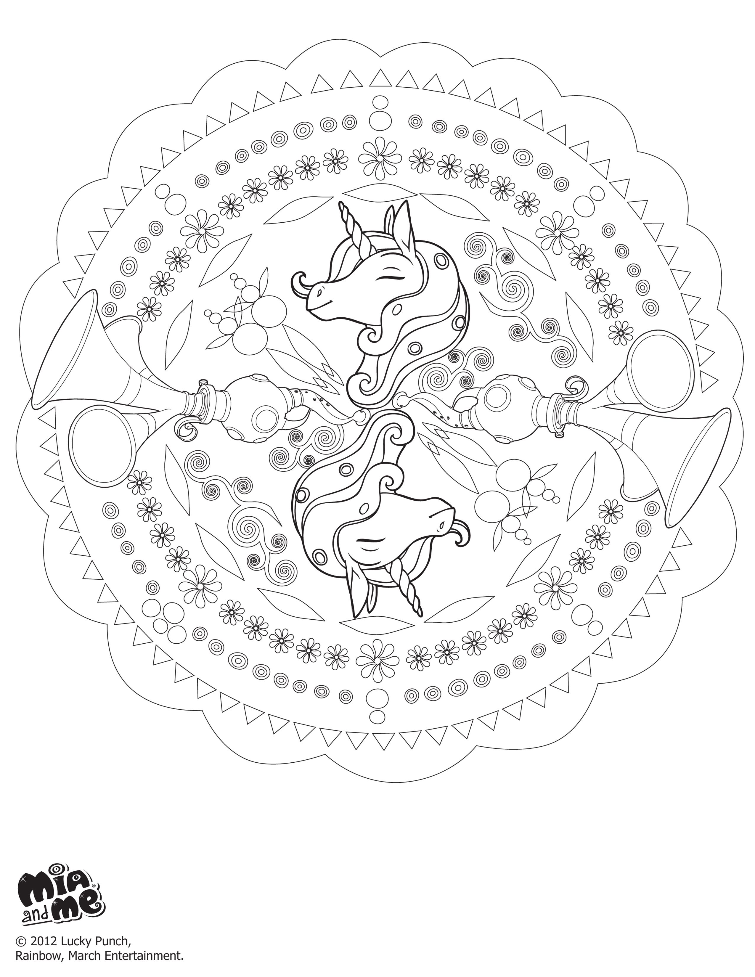 Mia and me unicorn coloring pages - Explore Party Shop Kids Coloring And More Mia And Me