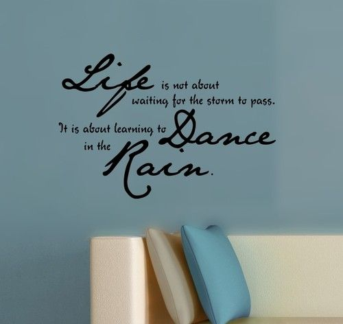 Dance in the rain vinyl sticker wall decal best quality