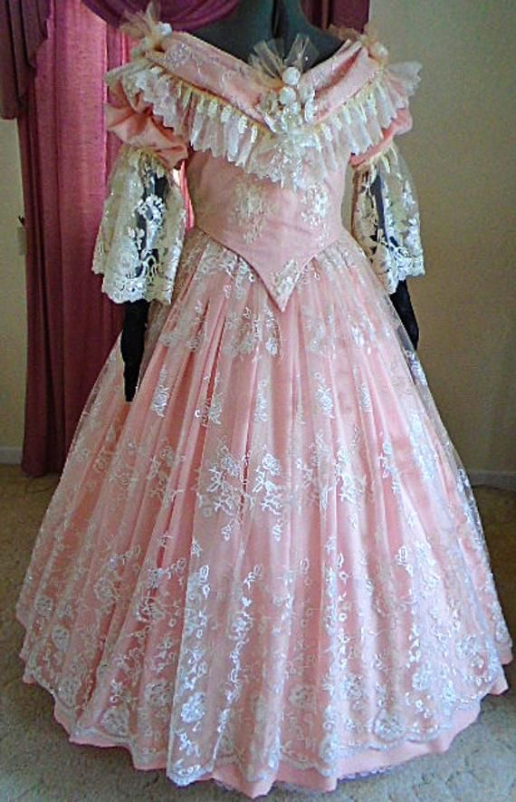 FOR ORDERS ONLY - Custom Made - 1800s Victorian Ball Gown - Civil War Dress - 1860s Ball Gown Dance #dressesfromthesouthernbelleera