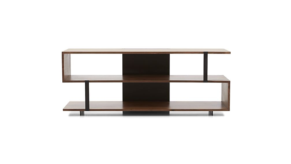 Crate and Barrel Austin 62 Media Console Table   Chairish