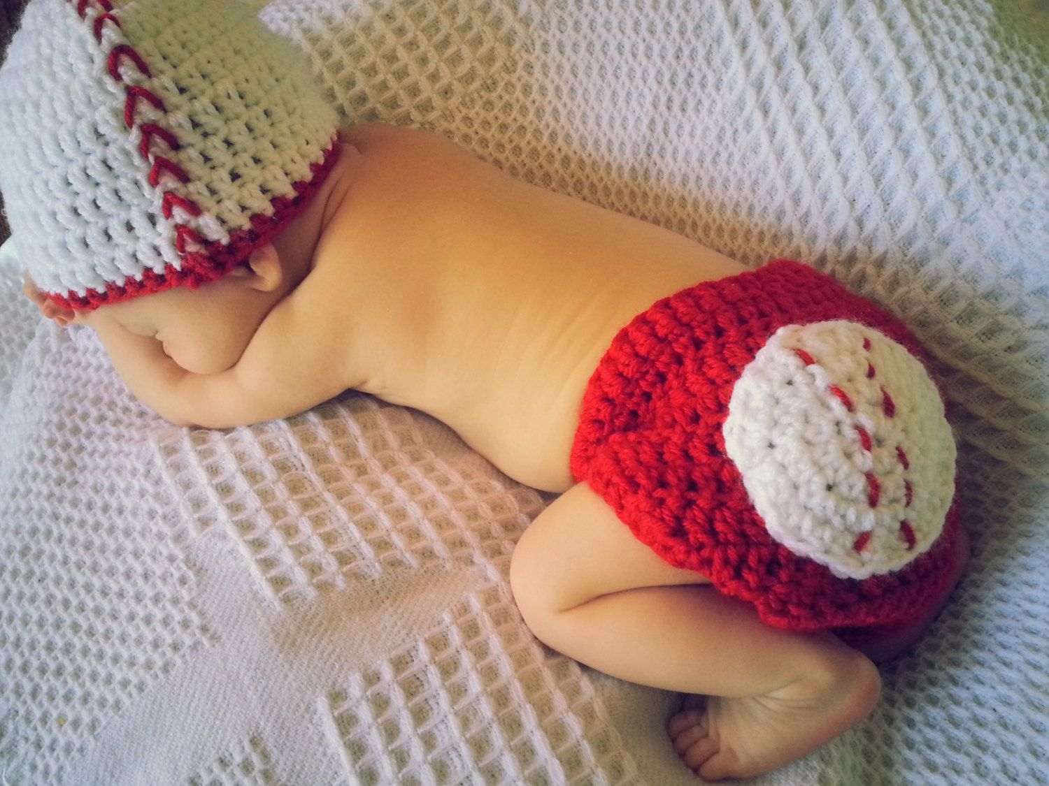 Shop sale newborn crocheted baby boy baseball hat diaper cover set shop sale newborn crocheted baby boy baseball hat diaper cover set 2000 via etsy bankloansurffo Gallery