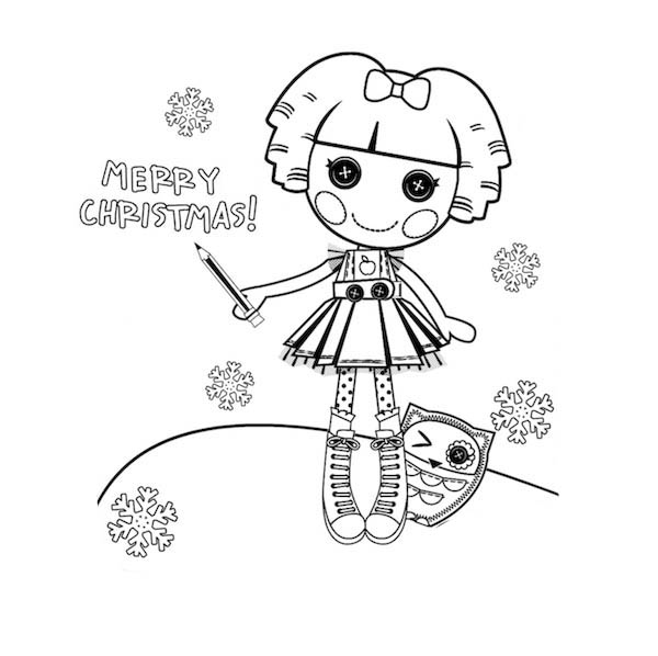 Bea Spells A Lot Merry Christmas Lalaloopsy Coloring Page Color Luna Fairy Coloring Pages Coloring Pages Lalaloopsy