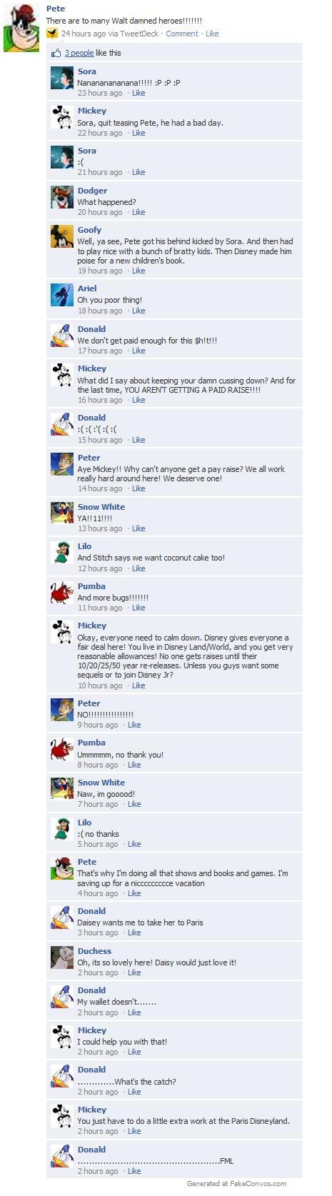 If you want more money.. Join Disney JR! lol Disney Meets Facebook: 17 by Twird96.deviantart.com ...