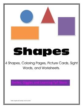 Shapes Teacherspayteachers Com Sight Word Worksheets Autism Teaching Tools Autism Teaching