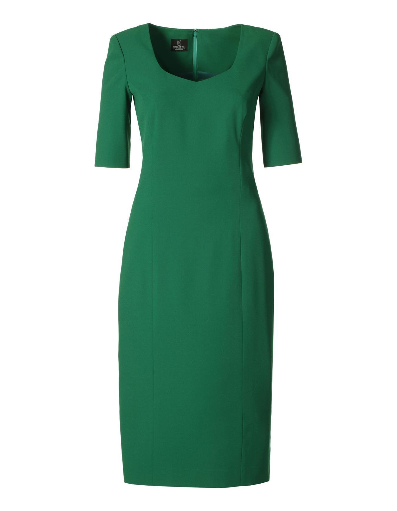 Kleid mit Halbarm in den Farben grün, schwarz - im MADELEINE Mode ...